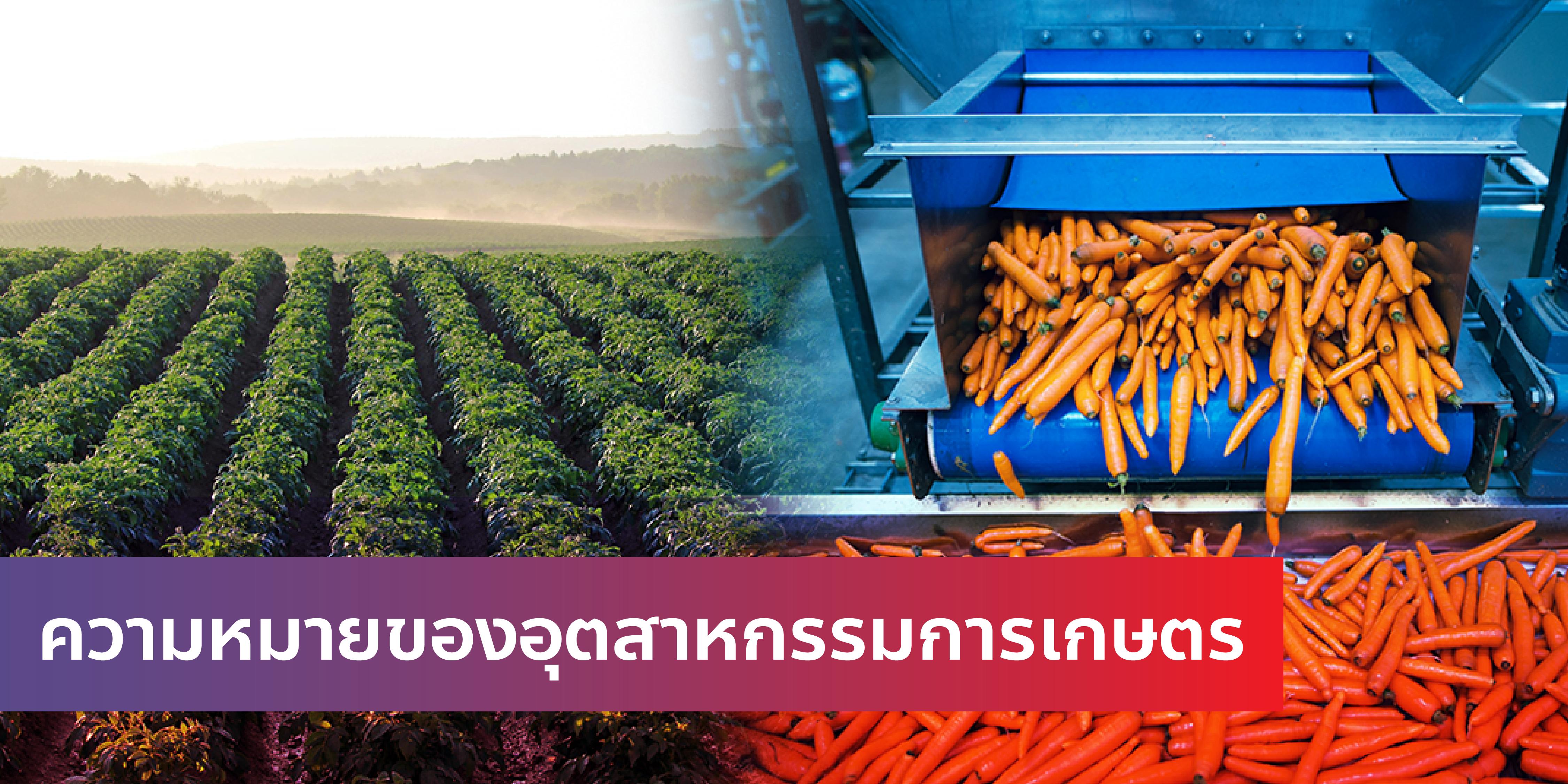 ความหมายของอุตสาหกรรมการเกษตร